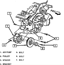bracket layout for a 1989 k 1500 and 350 c i engine a accessory graphic