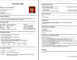 Bca Resume Format Student For Freshers Beautiful Of Experience And