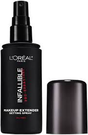 infallible pro spray set makeup extender setting spray is the lightweight mist that locks in your flawless look and keeps your makeup