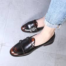 <b>LAISUMK</b> Fashion Monk Strap Leather <b>Shoes</b> Men Plus Size British ...