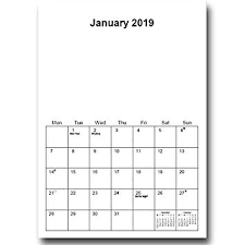 Blamk Calendar A4 Wire Bound 2019 Blank Calendar Planner Amazon Co Uk Office