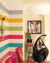 How to paint rainbow stripes, chevron stripes, small stripes, multi-colored  stripes and