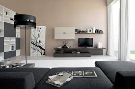 Mirror Decorations For Living Room Astonishing Attractive Living Room Design With Black Sofa And