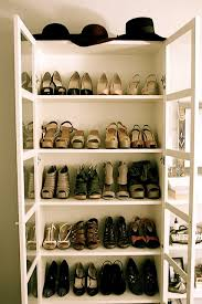 bookcase with glass doors used as a shoe wardrobe this is a good idea for the ikea billy bookcase