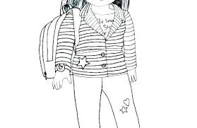 American Girl Doll Coloring Page Girl Doll Coloring Sheets Pages