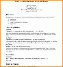 8 Good Receptionist Resume Quick Askips