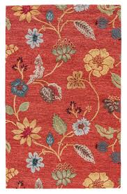 jaipur living blue garden party bl05 navajo red marigold area rug
