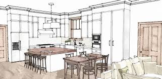 interior design kitchen drawings. Fine Interior Interior Design Kitchen Rendering  Gorjo Designs On Design Kitchen Drawings