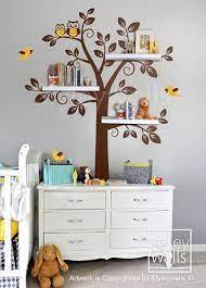 poličky nursery wall decals tree
