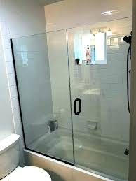 tub shower enclosures tub shower doors tub and shower doors bathtub glass door install glass shower