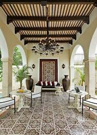 spanish style outdoor furniture. Spanish Style Outdoor Space \u2013 Love The Ceiling Design With Planks, Beams And Corbels Floor Tile \u2013wrought Iron Chandelier Furniture H