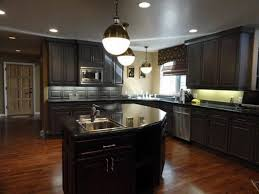 dark painting the kitchen cabinets