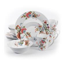 Patterned Dinnerware Inspiration Shop Gibson Home Doraville Stoneware Floralpatterned 48piece