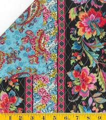 Best 25+ Pre quilted fabric ideas on Pinterest | DIY duffle bag ... & Black Pink Blue Paisley and Floral Stripe Pre-quilted Fabric  #FabricTraditions Adamdwight.com