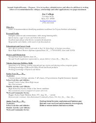 Scholarship Resume Examples Job Resume Sample Scholarship Outline Within 100 Awesome Property 63