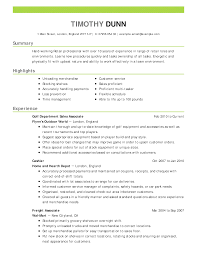 Sample Resume For Retail Sales Associate In A Clothing Store Objecti