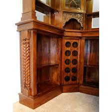 corner bars furniture. Solid Mahogany Corner Home Bar Furniture With Tiffany Glass Canopy Antique Replica Bars