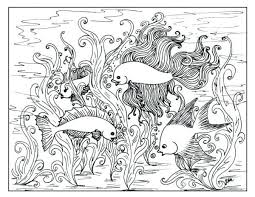 Hard Fish Coloring Pages For Kindergarten Printable Acnee