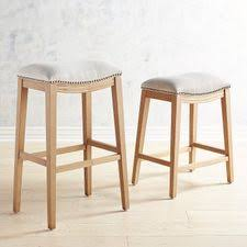 upholstered bar stools. Halsted Poet Flax Upholstered Backless Counter \u0026 Bar Stools With Natural Stonewash Wood