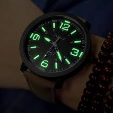 compare prices on mens luminous watches online shopping buy low yazole top brand leather strap quartz watch men light luminous electronic sport watch big dial mens