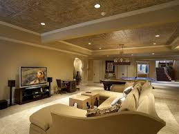Decorations  Basement Living Most Extensions Drop One Or Two - Painted basement ceiling ideas