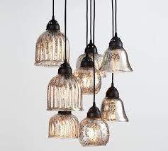pottery barn kenzie mercury glass chandelier pottery barn chandeliers pendant lights