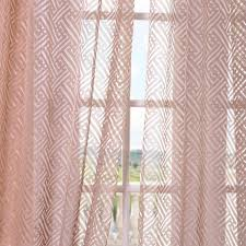 surging patterned sheer curtains zara taupe ds