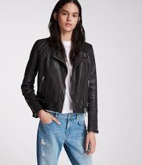 women s conroy leather biker jacket ink image 1