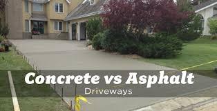 concrete vs asphalt driveways the