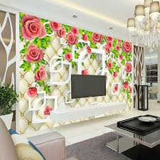 Wallpaper Design Home Decoration Romantic Rose Photo Wallpaper 100D Wallpaper Bedroom Ceiling Kid Room 40
