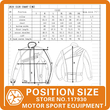 Oxford Jacket Size Chart Protective Gears Jackets Scoyco Jk28 2 Motorcycle Jacket
