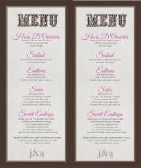Sample Menu Cards For Wedding Reception Brainmaxx Org