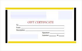 black yellow border blank gift certificate pdf fre