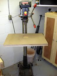 my first drill press table img 5581 jpg