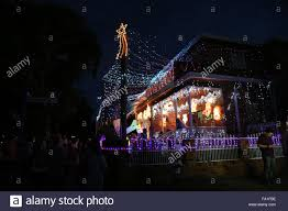 Sydney Streets With Christmas Lights Sydney Australia 19 December 2015 Second And Third Street