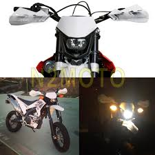 motocross white headlights headlamp streetfighter motorcycle dirt