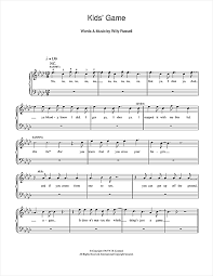 sheet music for kids kids game from blood brothers piano sheet music by willy russell