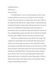 mock interview assignment essay integrated seminar joseph james mock interview assignment essay integrated seminar joseph james speranza mock interview integrative seminar for the mock interview i sat down my