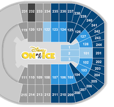 Rabobank Arena Seating Chart With Seat Numbers Where To Sit For Disney On Ice Event Schedule Tickpick