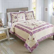 better homes gardens purple blossom quilt collection 1 each com