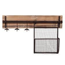 southern enterprises distressed fir wall mounted coat rack