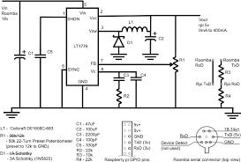 piroomba the pi roomba interface board circuit