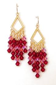 03 04 935 ruby rose crystal chandelier earrings