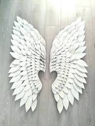 angel wings wall wings wall art classy angel wings wall art large silver distressed cowshed interiors angel wings wall