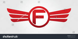 Letter F Templates Letter F Logo Winged Red Color Stock Vector Royalty Free 491081470