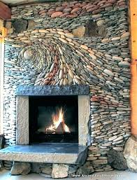 pebble stone fireplace surround stone tile for fireplace natural stone for fireplace amazing style natural stone