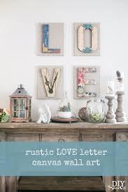 cute chippy rustic diy love letter wall art tutorial diyshowoff