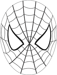 Printable coloring pages for kids. Spiderman Mask Printable Coloring Page For Kids