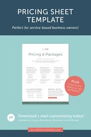 Pricing Templates For Services Check Out This Pricing Sheet Template Perfect For Service
