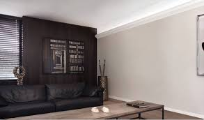 crown molding lighting. Contemporary Space With Pacifica Crown Molding And Indirect Lighting